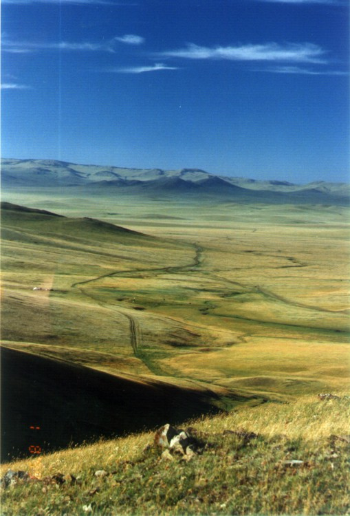 Countryside in central Mongolia