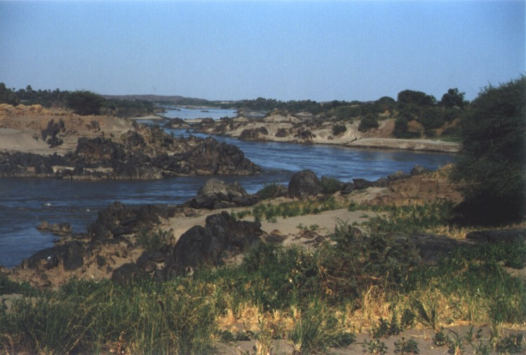 Nile river arm near fourth cataract